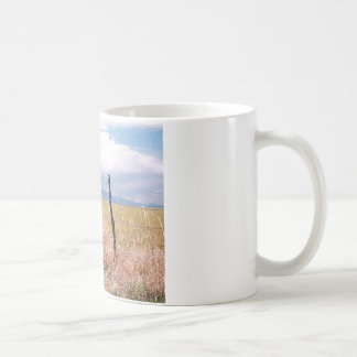 Barbed wire and post. coffee mugs