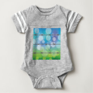 barbed wire background baby bodysuit