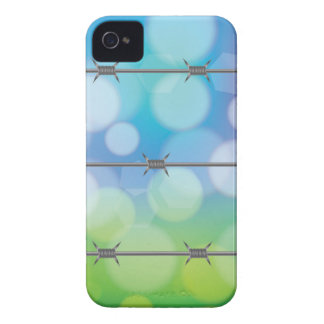 barbed wire background iPhone 4 case