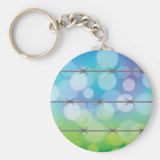 barbed wire background key ring