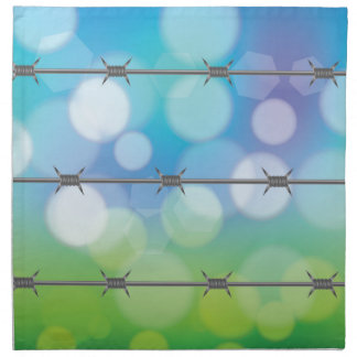 barbed wire background napkin