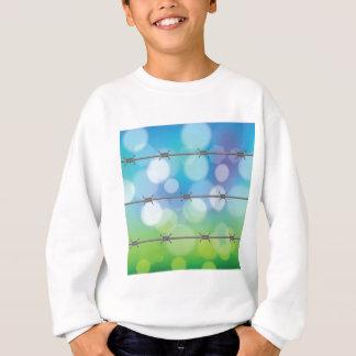 barbed wire background sweatshirt