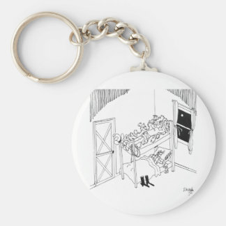 Barbed Wire Cartoon 5103 Basic Round Button Key Ring