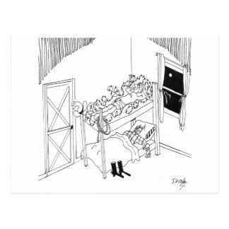 Barbed Wire Cartoon 5103 Postcard