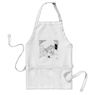 Barbed Wire Cartoon 5103 Standard Apron