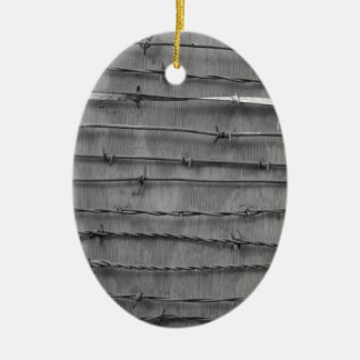 barbed wire ceramic oval decoration