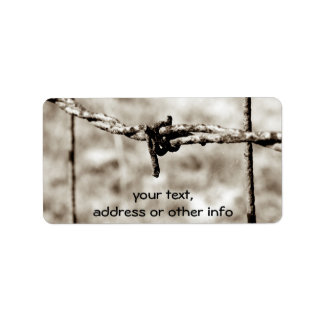 Barbed Wire Fencing (Sepia) Address Label