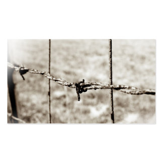 Barbed Wire Fencing (Sepia) Business Card Template