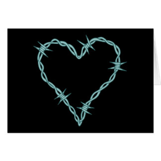 Barbed Wire Heart Greeting Card
