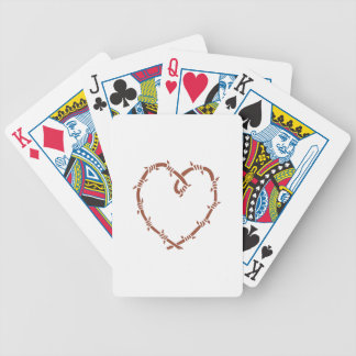 BARBED WIRE HEART BICYCLE PLAYING CARDS