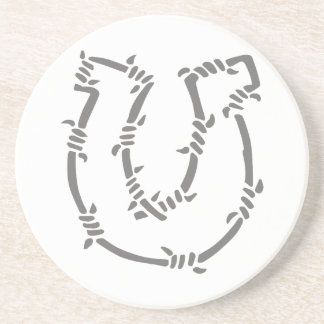 BARBED WIRE HORSESHOE DRINK COASTERS
