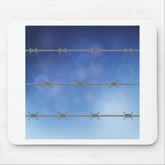 barbed wire mouse pad