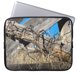 "Barbed Wire New Mexico 15"" Laptop Sleeve"