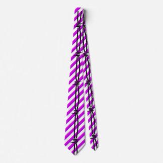 Barbed Wire on Purple Stripes 2 Tie