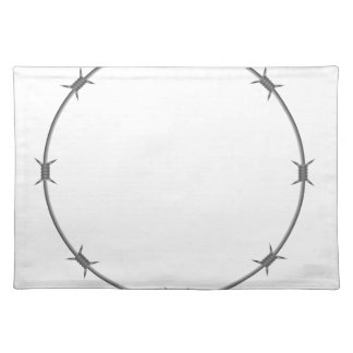 barbed wire placemat