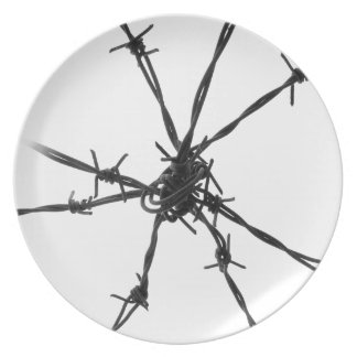 Barbed Wire Dinner Plates