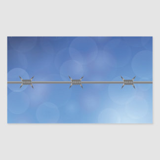 barbed wire rectangular sticker