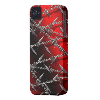 Barbed Wire Red BlackBerry Bold Case-Mate iPhone 4 Case-Mate Cases