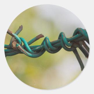 barbed wire round sticker