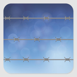 barbed wire square sticker