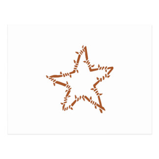 BARBED WIRE STAR POSTCARD