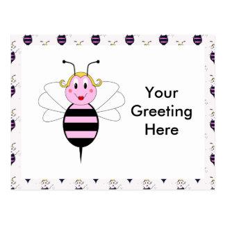 BarBee Bumble Bee Postcard