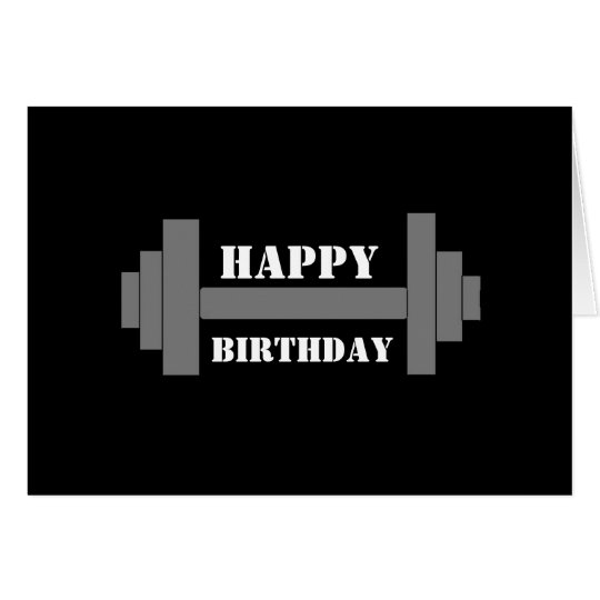 barbell HAPPY BIRTHDAY Card