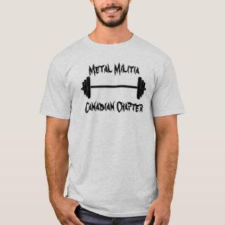 barbell, Metal MilitiaCanadian Chapter T-Shirt