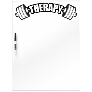 Barbell - THERAPY - Workout Inspirational Dry Erase Board