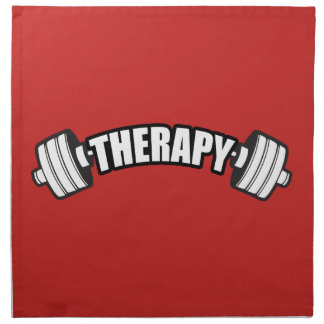 Barbell - THERAPY - Workout Inspirational Napkin
