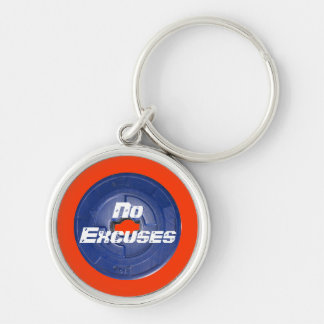 Barbell Weight  Items Silver-Colored Round Key Ring