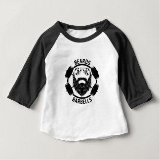 barbells beards baby T-Shirt