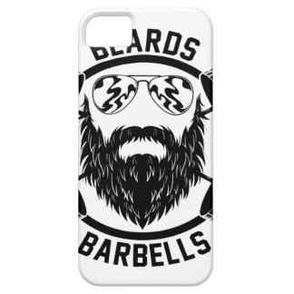 barbells beards iPhone 5 covers