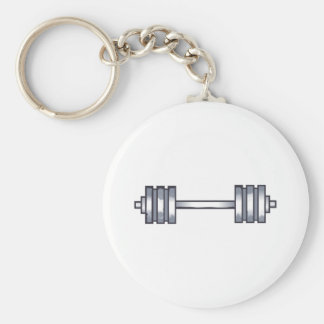 BARBELLS BASIC ROUND BUTTON KEY RING