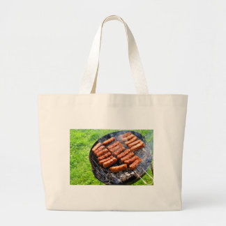 Barbeque Large Tote Bag