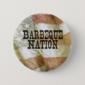 Barbeque Nation USA (with a Q) 6 Cm Round Badge