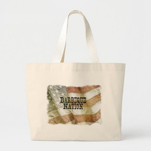 Barbeque Nation USA (with a Q) Canvas Bag