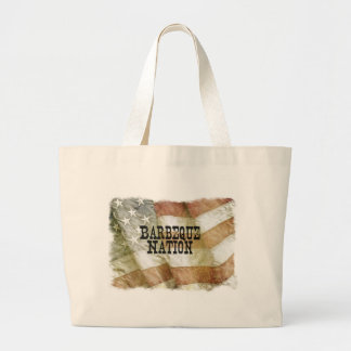 Barbeque Nation USA (with a Q) Jumbo Tote Bag