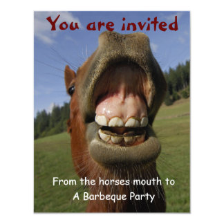 Barbeque Party Invite w/ Funny Horse customizable