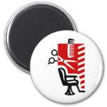 Barber 6 Cm Round Magnet