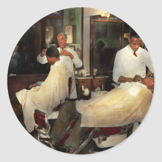 Barber - A time honored tradition 1941 Classic Round Sticker