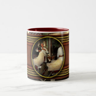 Barber - A time honored tradition 1941 Two-Tone Coffee Mug