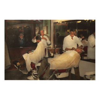 Barber - A time honored tradition 1941 Wood Wall Art