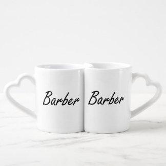 Barber Artistic Job Design Couple Mugs