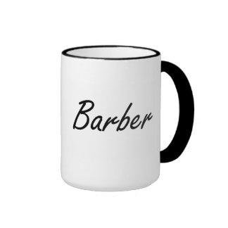 Barber Artistic Job Design Ringer Mug