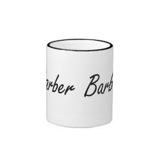 Barber Artistic Job Design Ringer Coffee Mug
