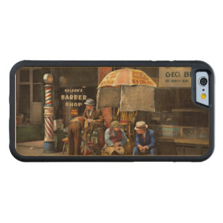 Barber - At Nelson's Barber Shop 1937 Carved Maple iPhone 6 Bumper Case