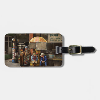 Barber - At Nelson's Barber Shop 1937 Luggage Tag