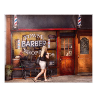 Barber - Barbershop - Time for a haircut 21.5 Cm X 28 Cm Flyer