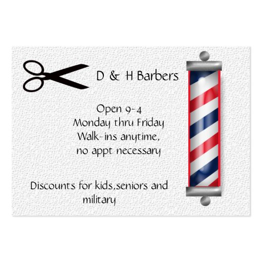 barber business large business cards (Pack of 100) : Zazzle